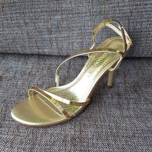 Light Gold Mirror Sandals Heels
